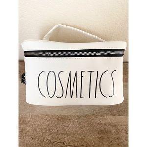 RAE DUNN cosmetics makeup bag w handle new NWT